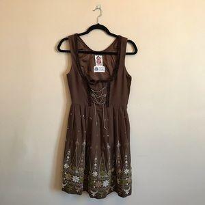 Vintage S Heller Salzburger Trachten wool dress